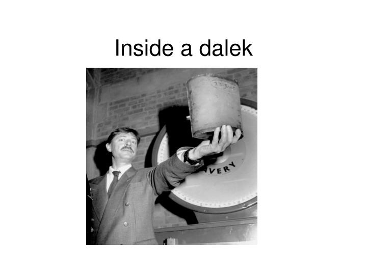 Inside a dalek
