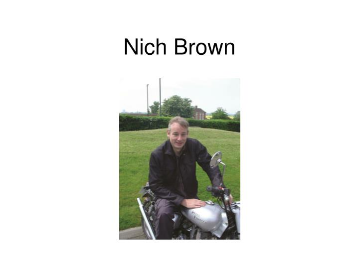 Nich Brown