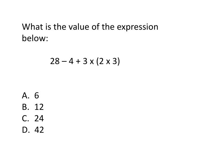 What is the value of the expression below: