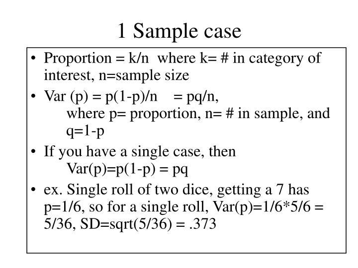 1 Sample case