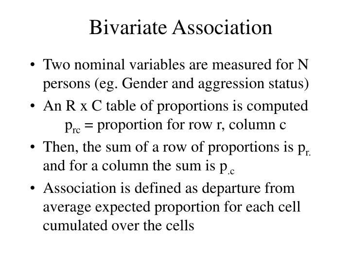 Bivariate Association