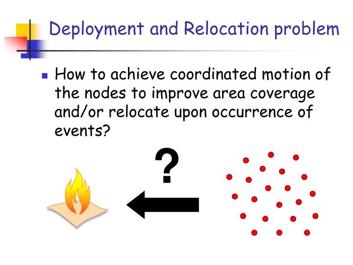 Deployment and Relocation problem