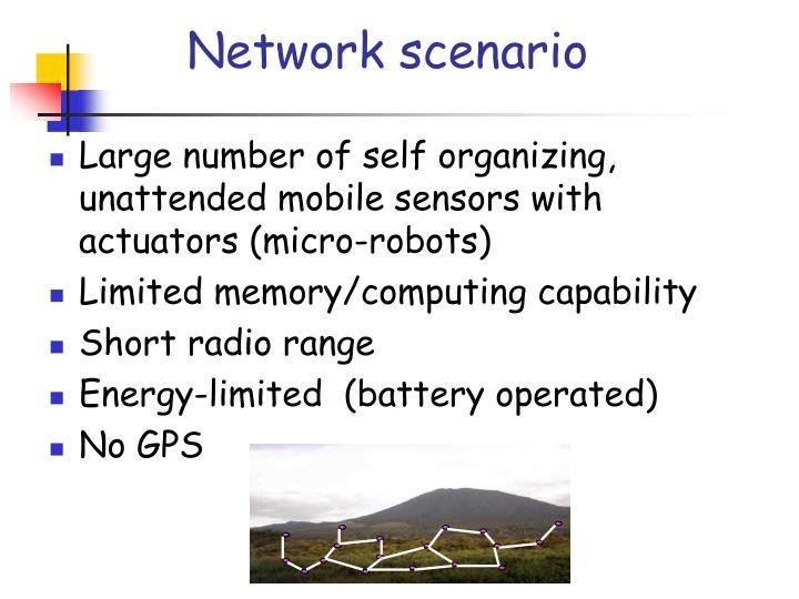 Network scenario