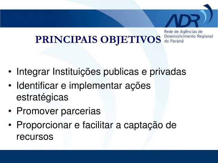 Integrar Instituições publicas e privadas