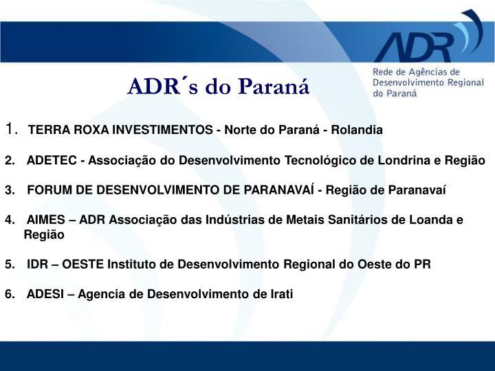 ADR´s do Paraná