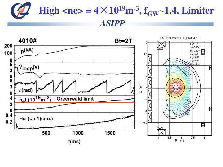 High <ne> = 4×10