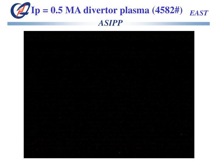 Ip = 0.5 MA divertor plasma (4582#)