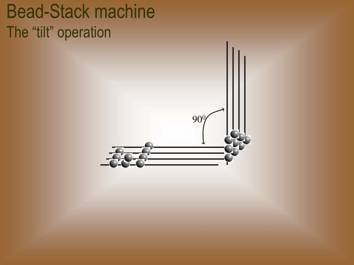 Bead-Stack machine