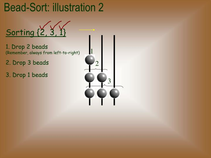 Bead-Sort: illustration 2