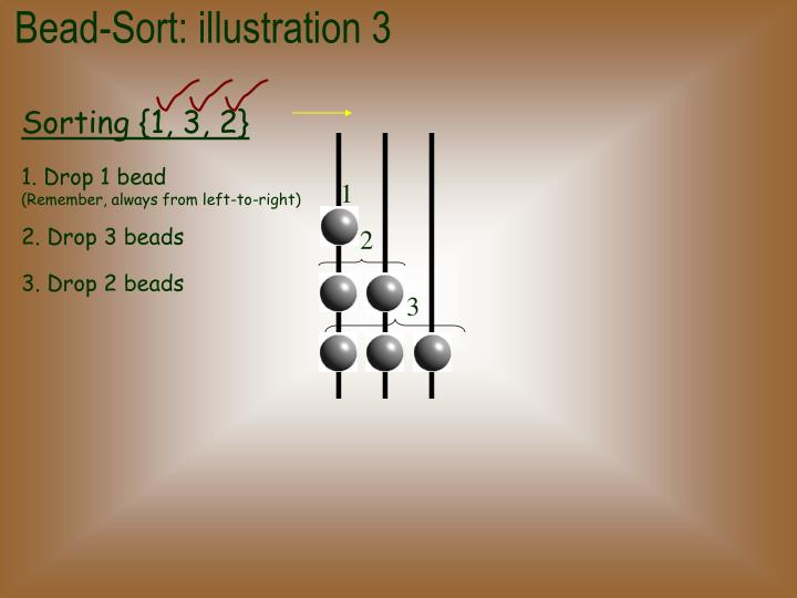 Bead-Sort: illustration 3