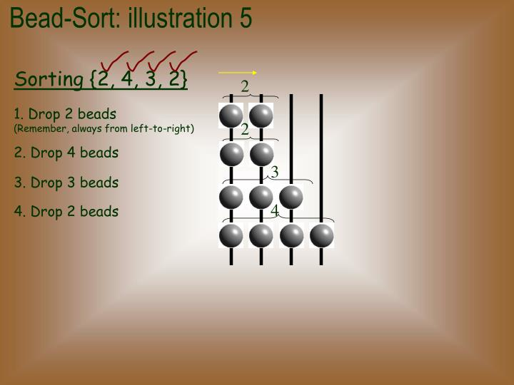 Bead-Sort: illustration 5