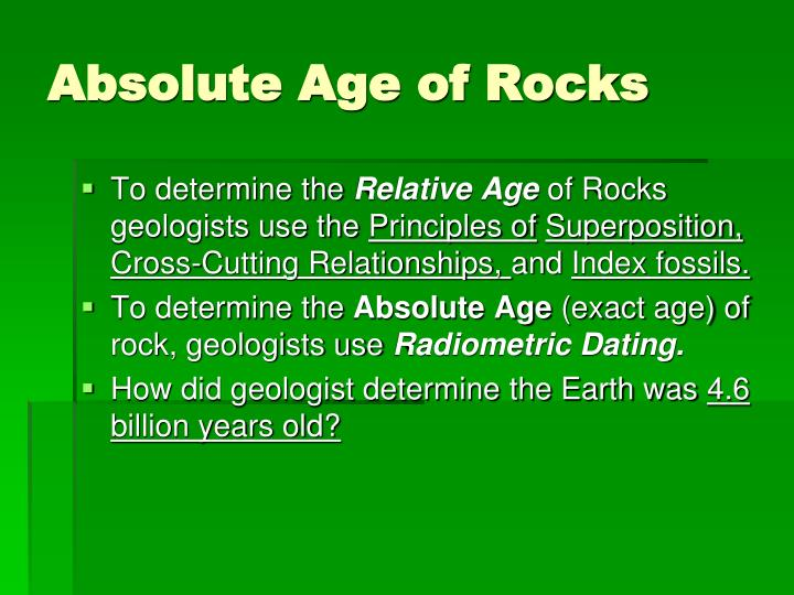Absolute Age of Rocks