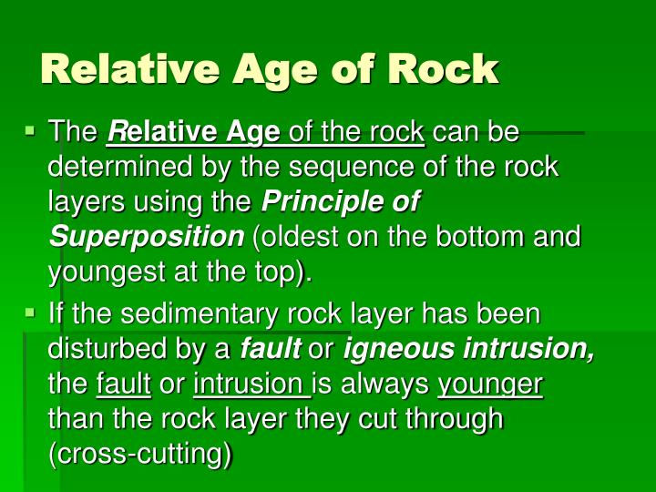 Relative Age of Rock
