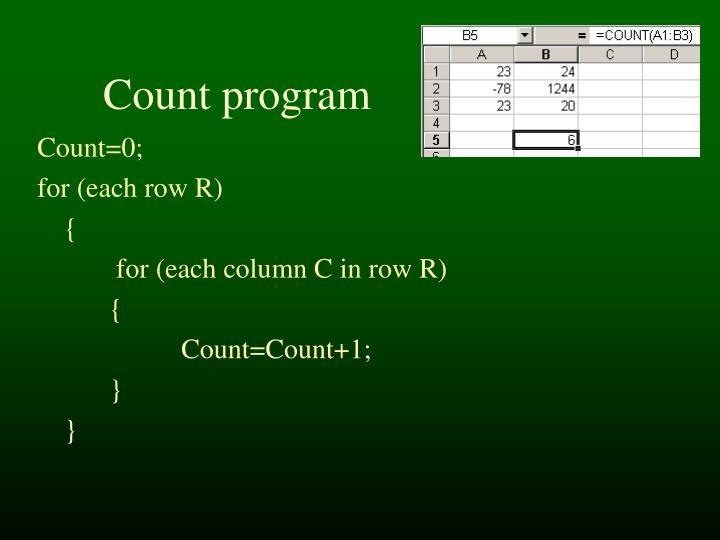 Count program