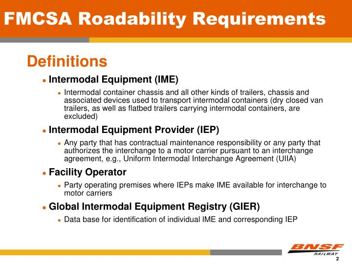 Fmcsa roadability requirements1
