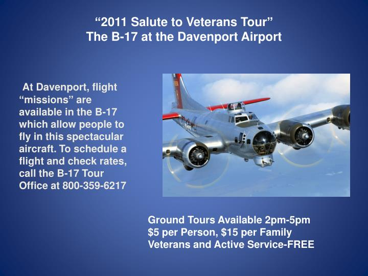 """2011 Salute to Veterans Tour"""