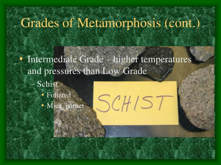 Grades of Metamorphosis (cont.)