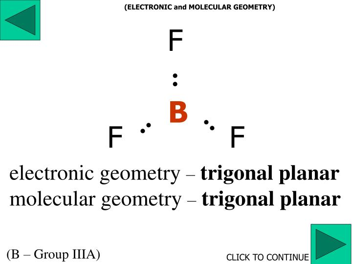 (ELECTRONIC and MOLECULAR GEOMETRY)