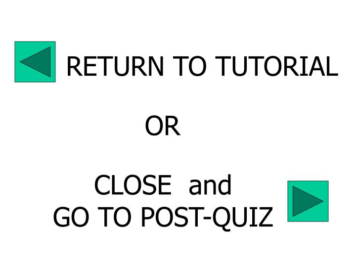 RETURN TO TUTORIAL