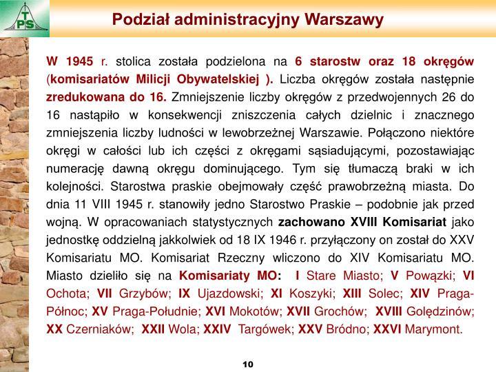 Podział administracyjny Warszawy