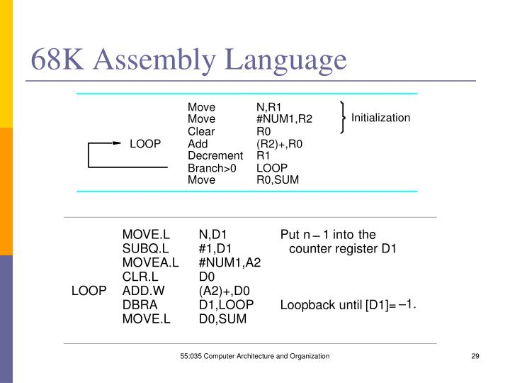 68K Assembly Language