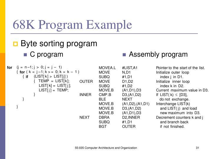 68K Program Example