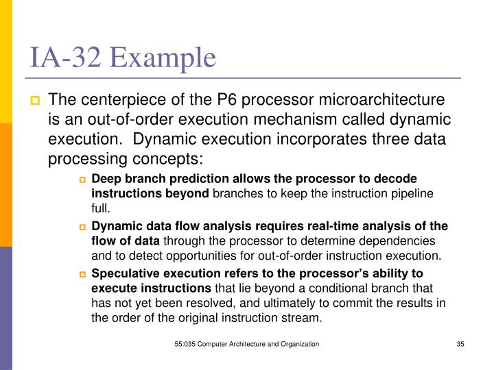 IA-32 Example