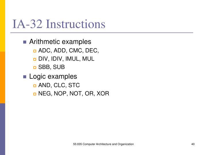 IA-32 Instructions