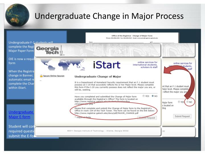 Undergraduate Change in Major Process