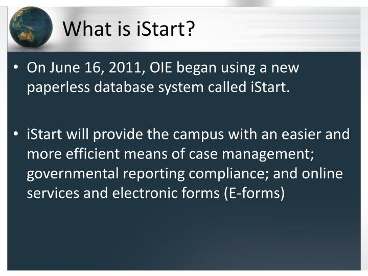 What is istart