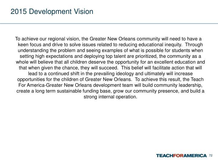2015 Development Vision