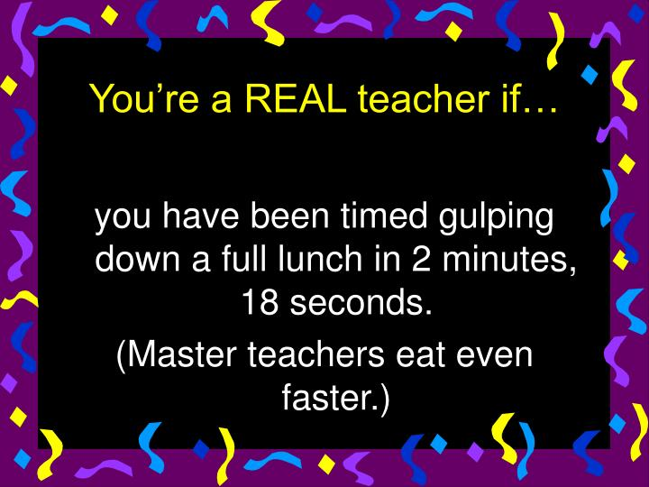 you have been timed gulping down a full lunch in 2 minutes, 18 seconds.