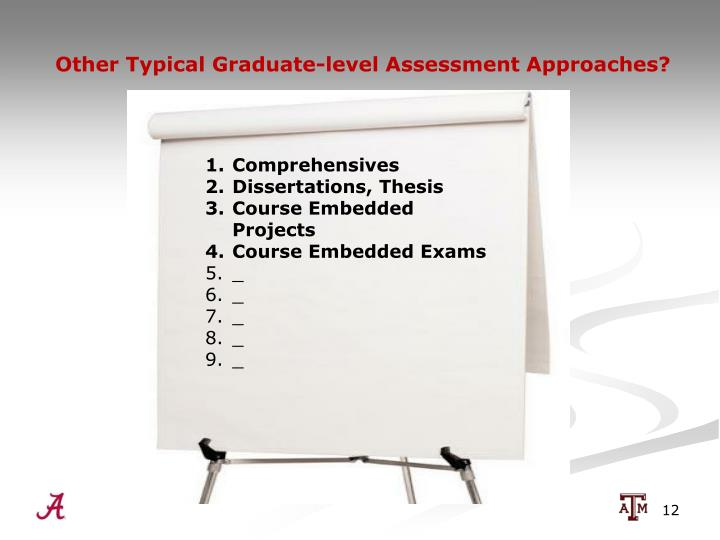 Other Typical Graduate-level Assessment Approaches?