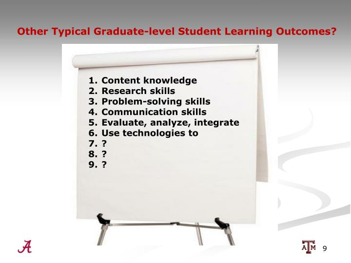 Other Typical Graduate-level Student Learning Outcomes?