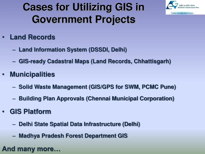 Cases for Utilizing GIS in