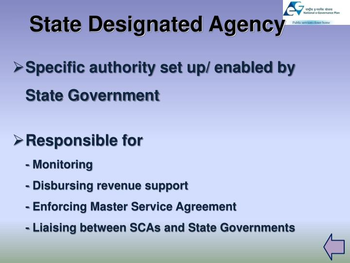 State Designated Agency