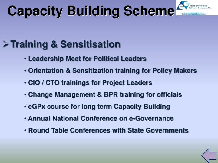 Capacity Building Scheme