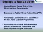 strategy to realize vision1