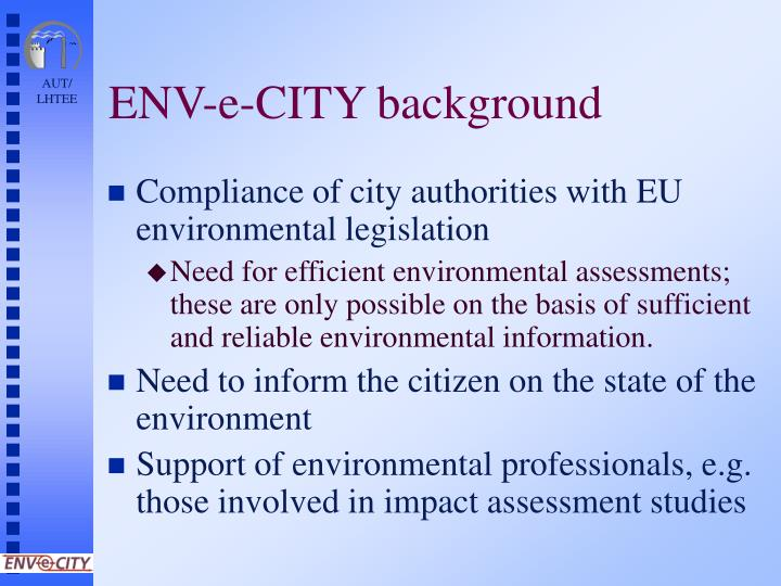 Env e city background