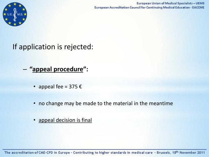 If application