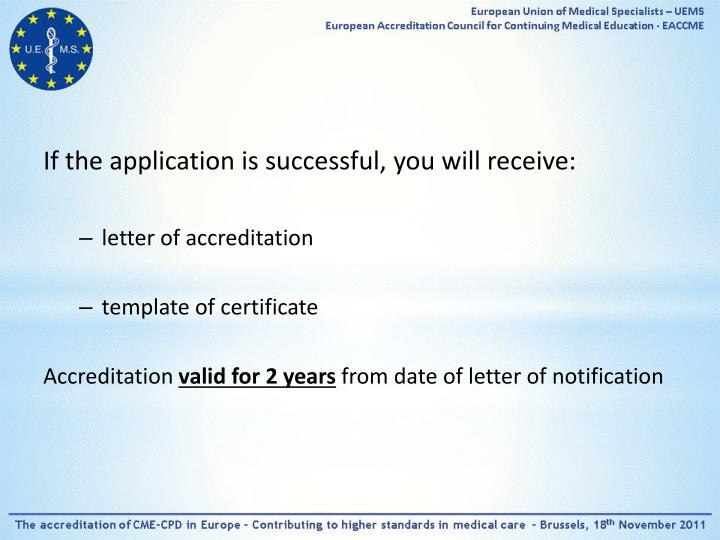 If the application