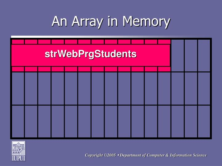 An Array in Memory