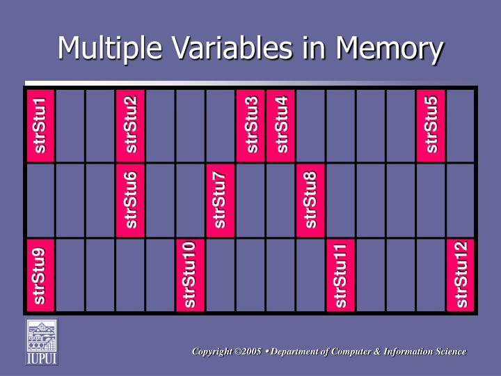 Multiple Variables in Memory