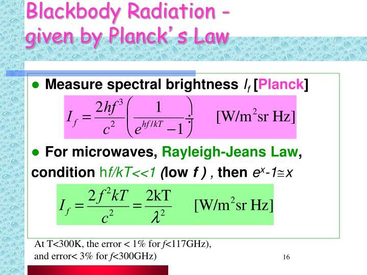 Blackbody Radiation -