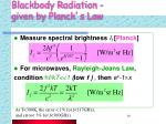 blackbody radiation given by planck s law