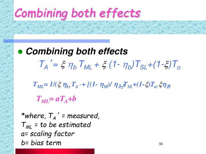 Combining both effects