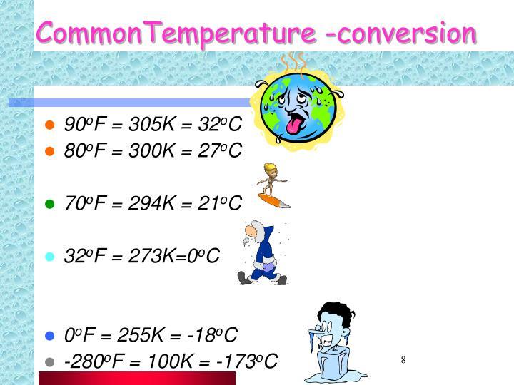 CommonTemperature -conversion