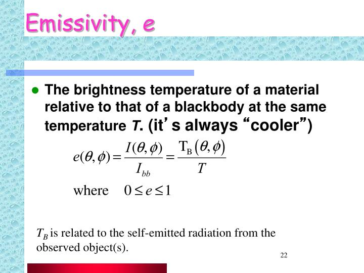 Emissivity,