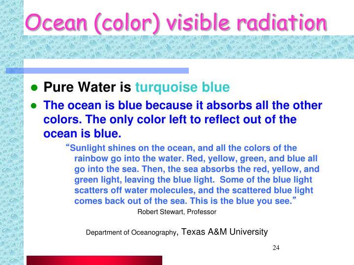 Ocean (color) visible radiation