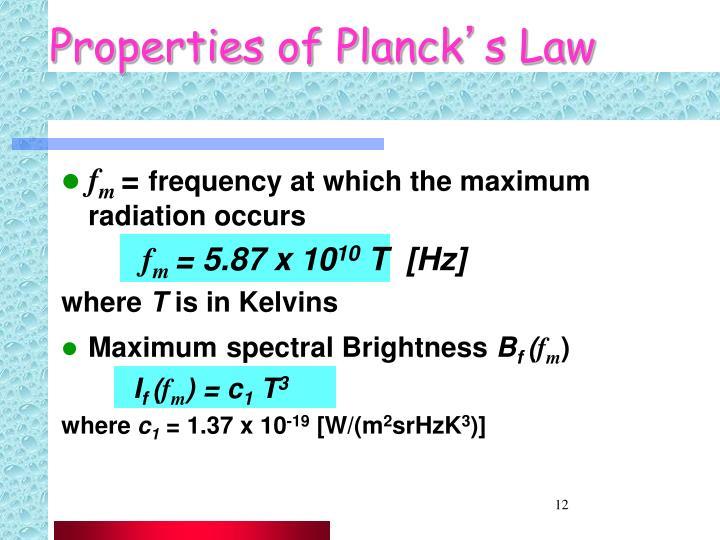Properties of Planck